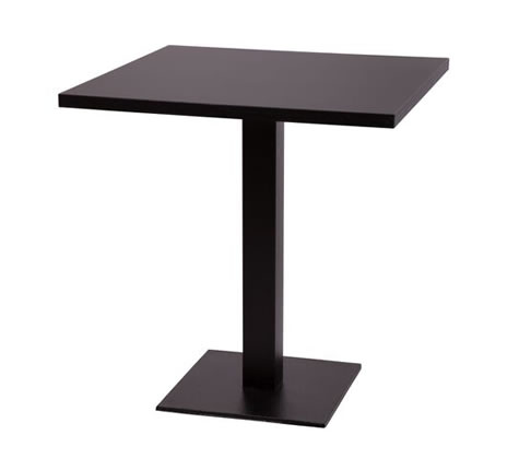 Gorzan Poseur Table Kitchen Dining Table Cast Iron Base Square Slimline Flat Base Square Table Top - Variety of Sizes and Colours