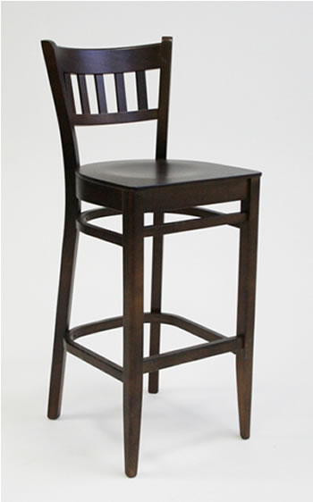 Harley Walnut Bar Stool