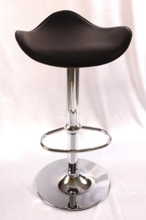 Hermy Kitchen Stylish Modern Bar Stools Black Padded Seat