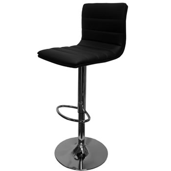 amazon black bar stool padded seat and back height adjustable