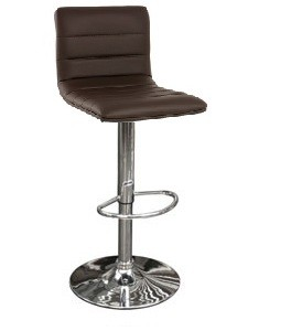 Vista Breakfast Bar Stool Brown Padded Seat Height Adjustable