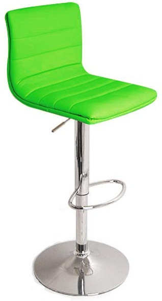 Vista Breakfast Bar Stool Green Padded Seat Height Adjustable