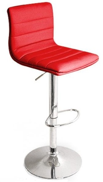 Vista Breakfast Bar Stool Red Padded Seat Height Adjustable