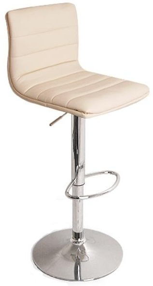 Vista Breakfast Bar Stool White Padded Seat Height Adjustable