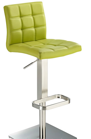 Bekasi Adjustable Bar Stool with brushed steel framework