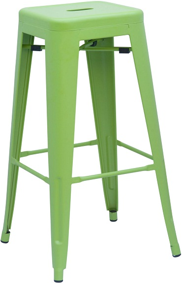 Metal Bar Stool - Green