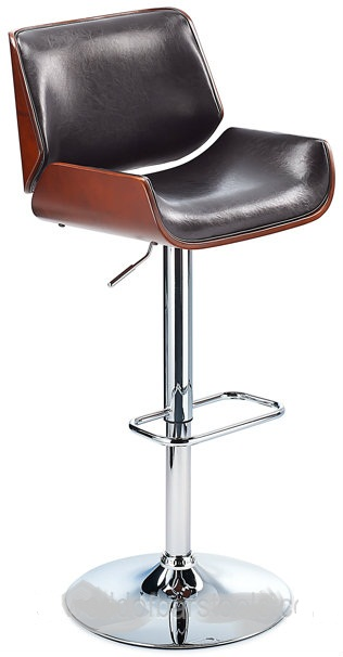 Glorious Shiny Black Kitchen Bar Stool With Cherry Seat Frame