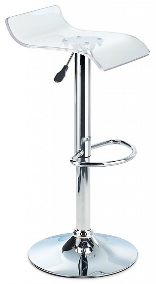 Sharp Acrylic Bar Stool, Height Adjustable - Clear