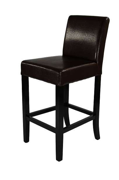 Deule Dark Wood Bar Stool - Brown