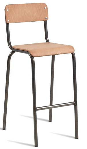 Llano Retro Stacking Vintage Style Bar Stool