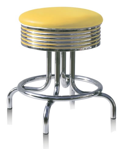Phoenix Low Height Stool Chair Height Quality Retro Fifties Style Kitchen Bar Stool Fully Assembled