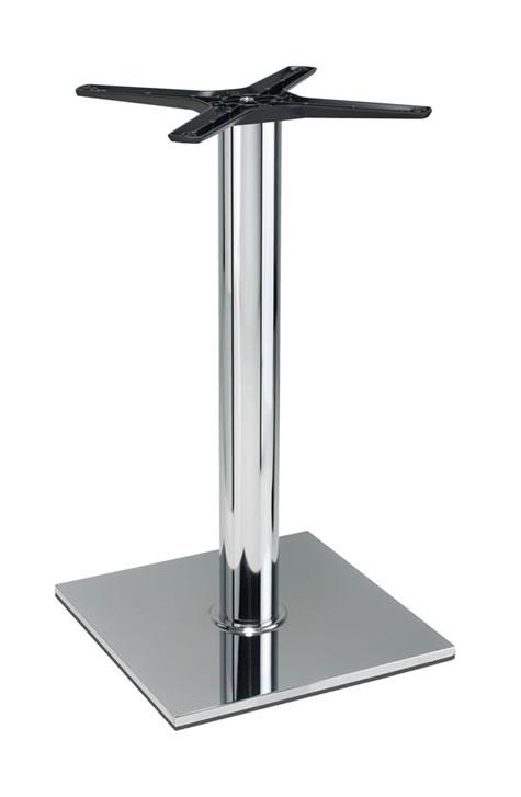 Lucci Chrome Table Base Poseur Table Height Italian Made Stylish Bases