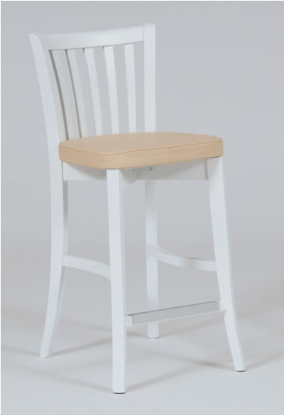 Lucinda Bar Stool   White Wooden