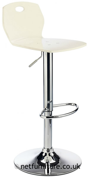 Laney ABS Retro Plastic Bar Stool, Height Adjustable - White
