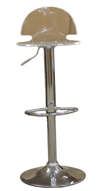 Celestial Clear Kitchen Breakfast Bar Stool Perspex Transparent Height Adjustable