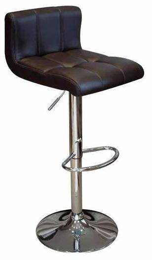 Reef Kitchen Breakfast Bar Stool Black Padded Seat Low Back
