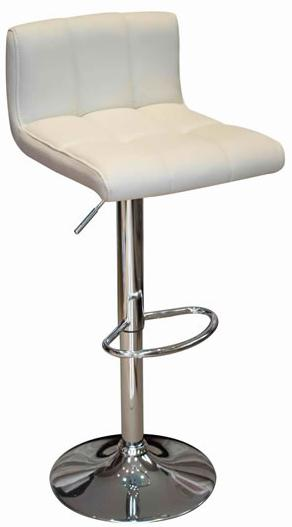 Reef Kitchen Breakfast Bar Stool White Padded Seat Low Back