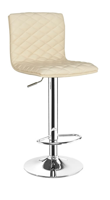 Oblea Kitchen Adjustable Padded Bar Stool Swivel Black,Cream,Brown