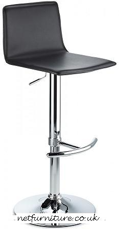 Trattoria Kitchen Bar Stool Chrome with Black Seat Height Adjustable
