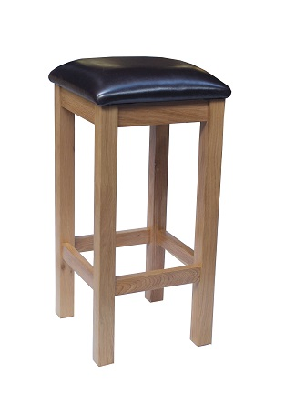 Burma Solid Oak Fixed Height Bar Stool