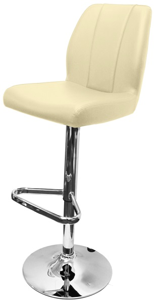 Bryant Adjustable Kitchen Bar Stool with faux leather padded seat and backrest