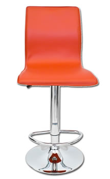 hilton red kitchen adjustable bar stool