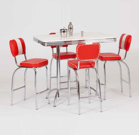 Sheraton Red Table - Adjustable