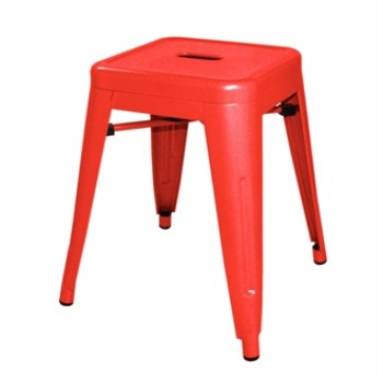 Hagrid Low Stool - Red Steel