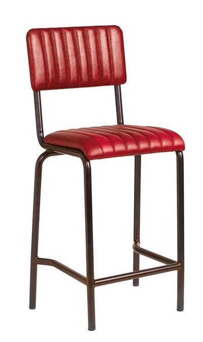 Rabon Padded Industrial style bar stool