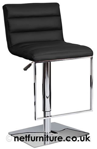 Rakko Stainless Steel Bar Stool - Padded and Adjustable