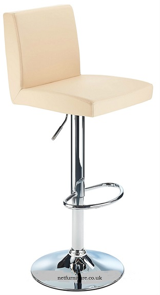 Losotho Adjustable Bar Stool with padded seat and high back