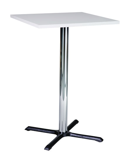 Roza Quality Tall Poseur Kitchen Table Black Cast Iron Table with a Round or Square Top