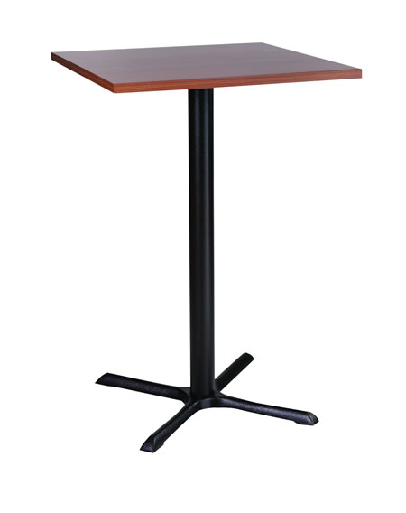 Roza black cast iron tall poseur bar kitchen table available with a round or square top