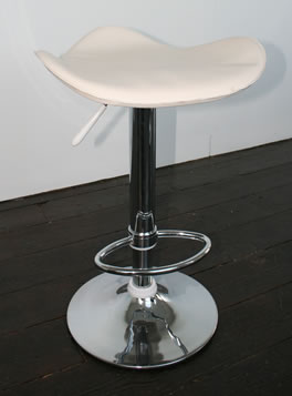 Saddle kitchen bar stool cream or black padded seat height adjustable