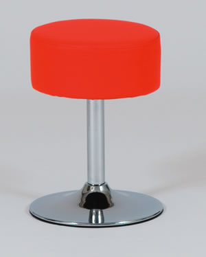 Tommie Chrome Stool