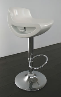 Saturn white kitchen bar stool gloss seat height adjustable