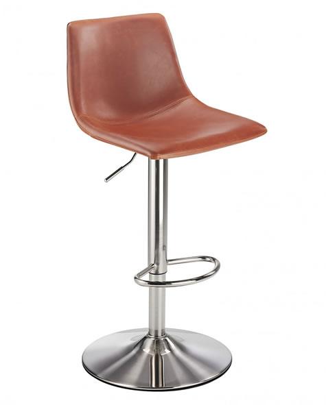 Savo brushed chrome kitchen breakfast bar stools 4 colours
