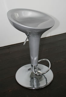 Semicor silver stool