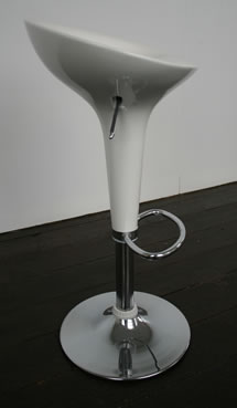Semicor white kitchen bar stool height adjustable