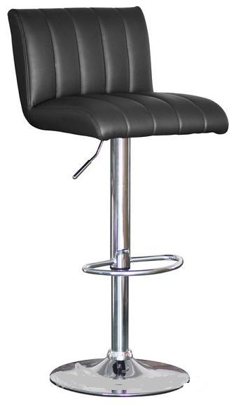 Sardinia Black Kitchen Bar Stool Height Adjustable Retro Style