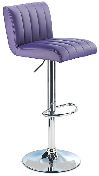 Sardinia Purple Kitchen Bar Stool Height Adjustable Retro Style