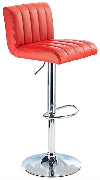 Sardinia Red Kitchen Bar Stool Height Adjustable Retro Style