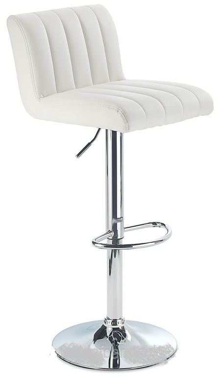 Sardinia White Kitchen Bar Stool Height Adjustable Retro Style