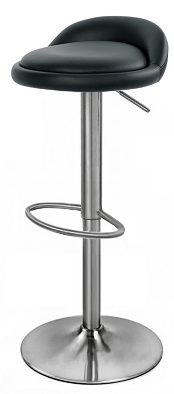 alexis brushed kitchen bar stool - stainless steel. adjustable height