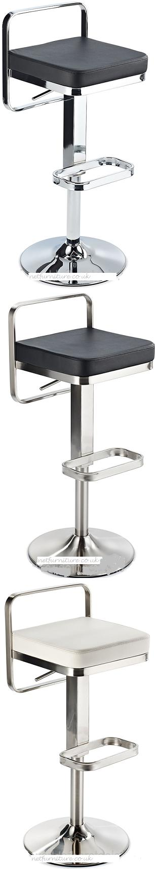Sol Kitchen Bar Stool Height Adjustable Chrome or Brushed