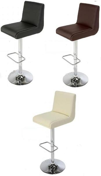 Sor Padded Stool Chrome and Faux Leather