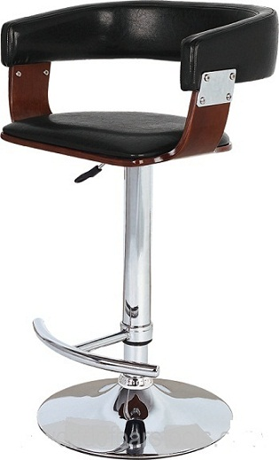 Mustang Kitchen Breakfast Bar Stool Fully Adjustable - Black and Cherry