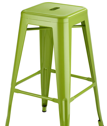 Levlin Metal Frame Modern Kitchen Bar Stool In Green