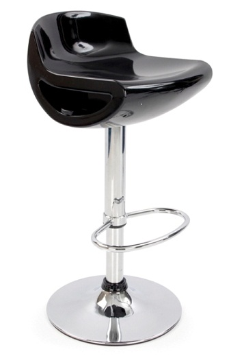 Posh Stylish Bar Stool - Black