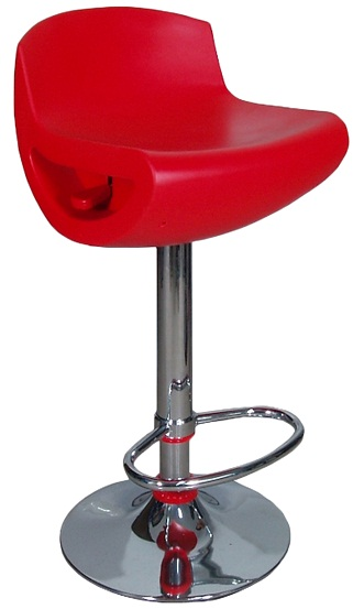 Posh Stylish Bar Stool - Red